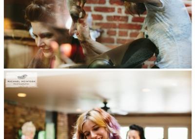 Liz styling a Bridal Party